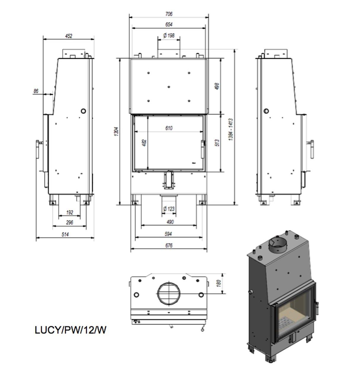0 0 productGfx f7fc00b1df58a7358e976cf56f7dba2e - Water fireplace insert LUCY PW 12